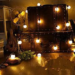 お買い得  LED ストリングライト-4メートルノベルティ20は、妖精の結婚式の庭のペンダント花輪のための世界に接続フェストゥーンパーティーボール列ランプを導きました