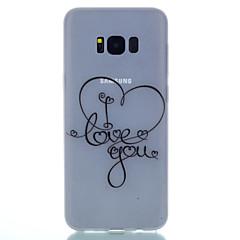 halpa Galaxy S4 Mini kotelot / kuoret-Etui Käyttötarkoitus Samsung Galaxy S8 Plus S8 Hehkuu pimeässä Himmeä Läpinäkyvä Kuvio Takakuori Sydän Pehmeä TPU varten S8 S8 Plus S7