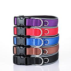 お買い得  犬用首輪/リード/ハーネス-犬 カラー 反射 / 調整可能 / 引き込み式 / しつけ用品 ソリッド ナイロン ブラック / レッド / ブルー