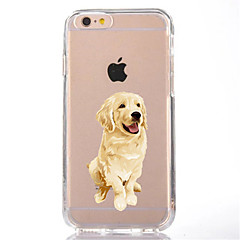 voordelige iPhone 7 Plus hoesjes-hoesje Voor Apple iPhone X iPhone 8 Transparant Patroon Achterkant Hond Zacht TPU voor iPhone X iPhone 8 Plus iPhone 8 iPhone 7 Plus
