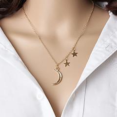 お買い得  ネックレス-女性用 ペンダントネックレス  -  星形 ぶら下がり式 ゴールド ネックレス ジュエリー 用途 クリスマスギフト, 結婚式, パーティー