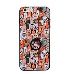 Недорогие Кейсы для iPhone 5-Кейс для Назначение Apple iPhone 7 Plus iPhone 7 Кольца-держатели Кейс на заднюю панель Животное Твердый ПК для iPhone 7 Plus iPhone 7