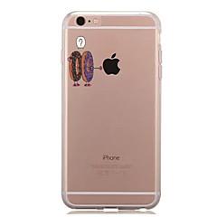 Недорогие Кейсы для iPhone 6 Plus-Кейс для Назначение Apple iPhone 7 Plus iPhone 7 Прозрачный С узором Кейс на заднюю панель Композиция с логотипом Apple Мягкий ТПУ для