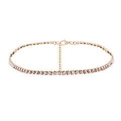 Κολιέ Τσόκερ Κράμα Cubic Zirconia Μοναδικό Multi-τρόπους Wear Εξατομικευόμενο Ενιαία Δέσμη Κοσμήματα ΓυναικείαΓάμου Πάρτι Ειδική