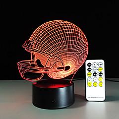 3D Light LED Chicago Bears Football Helmet Sport Cap 3D LED Night Light Visual Lamp Christmas Gift for Children