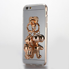 Недорогие Кейсы для iPhone 7-Кейс для Назначение Apple iPhone 7 Plus iPhone 7 Зеркальная поверхность Своими руками Кейс на заднюю панель 3D в мультяшном стиле Твердый