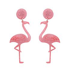 お買い得  イヤリング-女性用 ドロップイヤリング  -  鳥, アニマル ファッション, 欧米の ディプレッション・ピンク 用途 結婚式 / パーティー / Halloween