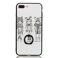 Для Кольца-держатели С узором Кейс для Задняя крышка Кейс для Соблазнительная девушка Твердый PC для Apple iPhone 7 Plus iPhone 7