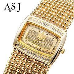 お買い得  大特価腕時計-ASJ 女性用 ブレスレットウォッチ 日本産 模造ダイヤモンド 銅 バンド ぜいたく / 光沢タイプ / ファッション シルバー / ゴールド
