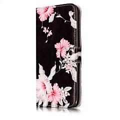 Недорогие Кейсы для iPhone 5с-Кейс для Назначение Apple iPhone X / iPhone 8 Кошелек / Бумажник для карт / со стендом Чехол Цветы Твердый Кожа PU для iPhone X / iPhone 8 Pluss / iPhone 8