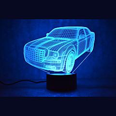 お買い得  USB ライト-1枚 3Dナイトライト USB 自動タイプ / 調光可能 / 防水 LED / コンテンポラリー