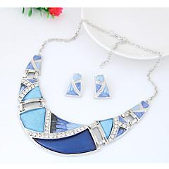 abordables Búsquedas Populares-Mujer Geométrico Conjunto de joyas - Moda, Euramerican Incluir Arco Iris / Verde / Azul Para Fiesta Diario