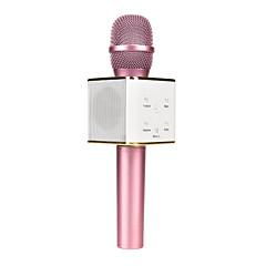 abordables Micrófonos-q7 magic karaoke microphone ktv player bluetooth mic speaker música de grabación para iphone android