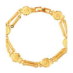 Муж. Жен. Браслеты-цепочки и звенья Бижутерия Мода Золотистый Медь Позолота Алфавит Бижутерия Назначение Свадьба Для вечеринок Особые