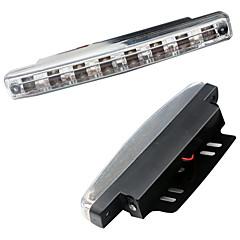 자동차 낮 조명 8 주도 8smd drl 일광 키트 슈퍼 흰색 헤드 램프 주차 자동차 안개 조명 dc12v
