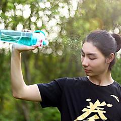 1 قطع الرياضة رذاذ زجاجة المياه ذات الاستخدام المزدوج ببا الحرة الزجاجات البلاستيكية للأزياء الأزياء أكواب الفضاء