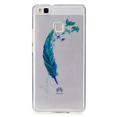 Для IMD Прозрачный С узором Кейс для Задняя крышка Кейс для Перо Мягкий TPU для HuaweiHuawei P9 Lite Huawei P8 Lite Huawei Y5 II / Honor