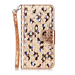 For HTC Desire 626 Case Cover Butterfly Pattern Laser Electric Light Glossy PU Material Phone Case