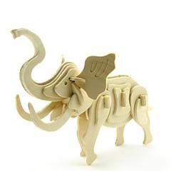 Zabawki 3D Puzzle Model drewna Zabawki Słoń 3D Animals DIY Drewniany Dla obu płci Sztuk