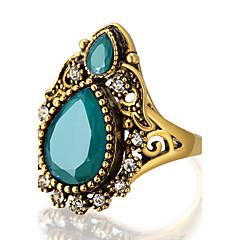 お買い得  指輪-女性用 ステートメントリング 指輪  -  樹脂, 合金 ステートメント, オリジナル, ぜいたく 7 / 8 / 9 / 10 レッド / グリーン / ブルー 用途 パーティー 記念日 誕生日