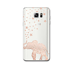 Mert tokok Ultra-vékeny Minta Hátlap Case Elefánt Puha TPU mert Samsung Note 5 Note 4 Note 3