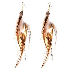 preiswerte Ohrringe-Damen Quaste / Geometrisch Tropfen-Ohrringe - Luxus, Geometrisch, Simple Style Khaki Für Geburtstag / Danke / Alltag
