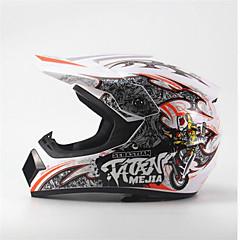 abordables Accesorios para Motos y Cuatriciclos-mejia off-road casco de carreras de motos cara completa amortiguación durable motorsport casco blanco / naranja color