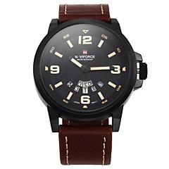 Homens Relógio Militar Relógio de Pulso Quartzo Quartzo Japonês Impermeável Couro Banda