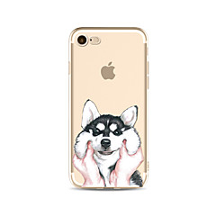 Capinha Para Apple iPhone X iPhone 8 Plus Transparente Estampada Capa Traseira Cachorro Macia TPU para iPhone X iPhone 8 Plus iPhone 8