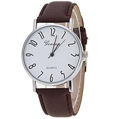 お買い得  メンズ腕時計-女性用 リストウォッチ クォーツ クリエイティブ カジュアルウォッチ クール PU バンド ハンズ チャーム ぜいたく カジュアル ブラック / 白 / ブラウン - ホワイト ブラック Brown 1年間 電池寿命 / SSUO LR626