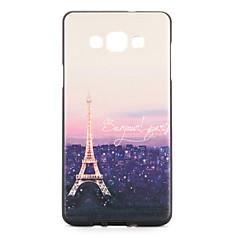 For Etuier Mønster Bagcover Etui Eiffeltårnet Blødt TPU for Samsung A7 A5
