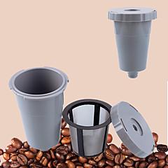 10 ml Fém Plastic Kávés szűrő , Brew kávé Készítő Újrahasznosítható