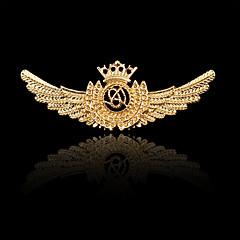 Dames Jongens Overige Broches PERSGepersonaliseerd Hip-hop Rock Euramerican Kostuum juwelen Verguld Legering Kroonvorm Wings Sieraden Voor