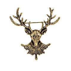 Dames Jongens Overige Broches Dierenontwerp Vintage PERSGepersonaliseerd Euramerican Kostuum juwelen Verguld Legering Dierenvorm Sieraden