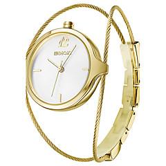 preiswerte Tolle Angebote auf Uhren-WeiQin Damen Armbanduhr Quartz Schlussverkauf Legierung Band Analog Charme Modisch Silber - Gold / Weiß Rotgold Rotgold / Weiß