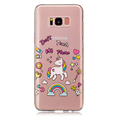 voordelige Galaxy S4 Mini Hoesjes / covers-hoesje Voor Samsung Galaxy S8 Plus S8 IMD Transparant Patroon Achterkant Eenhoorn Zacht TPU voor S8 Plus S8 S5 Mini S4 Mini