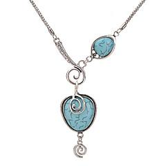 preiswerte Halsketten-Damen Türkis Statement Ketten - Türkis Einzigartiges Design Rot, Hellblau Modische Halsketten Für Party, Alltag, Normal