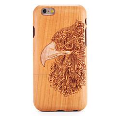 Недорогие Кейсы для iPhone 6-Для яблока iphone 6 6s чехол для чехла тисненый узор задняя обложка чехол для дерева зерно животное твердая массивная древесина