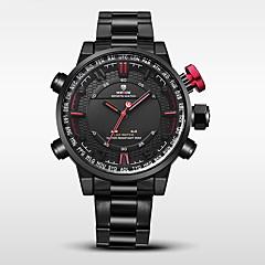 お買い得  大特価腕時計-WEIDE 男性用 軍用腕時計 / スポーツウォッチ 日本産 アラーム / カレンダー / 耐水 ステンレス バンド ブラック