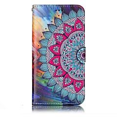 Недорогие Чехлы и кейсы для LG-Кейс для Назначение LG Бумажник для карт Кошелек со стендом Флип Магнитный С узором Рельефный Чехол Мандала Твердый Кожа PU для LG G6
