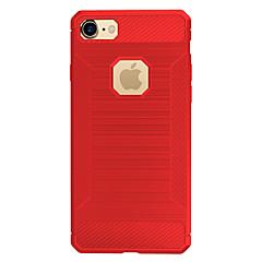 Til Apple iPhone 7 plus 7 Case Cover Stødtætte bagside Cover Solid Color Soft Carbon Fiber 6s plus 6 plus 6s 6 5 5s se