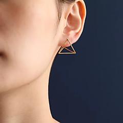 halpa -Naisten Niittikorvakorut pukukorut Muoti Euramerican Metalliseos Geometric Shape Triangle Shape Korut Käyttötarkoitus Päivittäin
