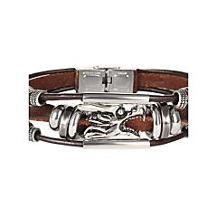 preiswerte Armbänder-Herrn / Damen Ketten- & Glieder-Armbänder - Leder Modisch Armbänder Schwarz Für Weihnachts Geschenke / Hochzeit / Party