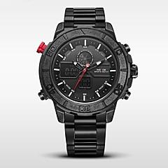 preiswerte Tolle Angebote auf Uhren-WEIDE Herrn Militäruhr / Sportuhr Japanisch Alarm / Kalender / Wasserdicht Edelstahl Band Schwarz