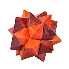 abordables Puzzles-Puzzles de Madera Rompecabezas IQ Rompecabezas Luban Prueba de inteligencia De madera Unisex Juguet Regalo
