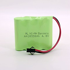 Ni-Mh Battery 1800Mah Aa 4.8V Sm Head High Quality   (Green Color)