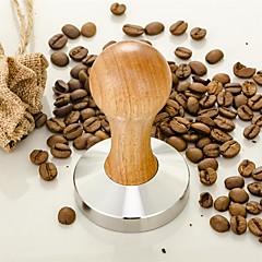 50 ml Rozsdamentes acél Fa Kávé örlőgép , Brew kávé Készítő Útmutató