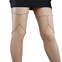 お買い得  ボディージュエリー-女性 ボディジュエリー レッグチェーン ファッション 銅 ラインストーン 幾何学形 ジュエリー のために パーティー カジュアル 1枚