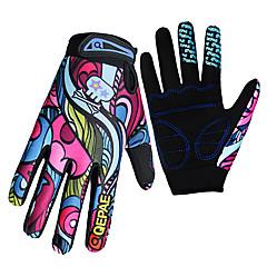 QEPAE Aktivitets- / Sportshandsker Cykelhandsker Hold Varm Ultraviolet Resistent Slidsikkert Reducerer gnavesår Fuld Finger Spandex