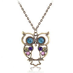 preiswerte Halsketten-Damen Kubikzirkonia Anhängerketten / Vintage Halskette - Zirkon Modisch Braun Modische Halsketten Für Alltag